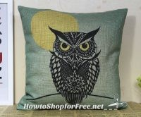 Retro Vintage Owl Pillow Cover $1.58 & FREE Shipping!