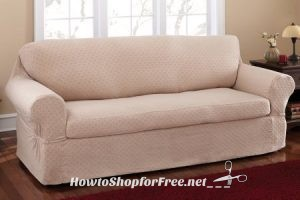86% OFF Mainstays 2pc. Sofa Slipcover!!