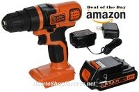 BLACK+DECKER 20V Drill $34.49 +Free Shipping ~Today Only!