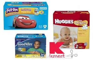Giant Packs of Huggies, Pull-Ups & Goodnites for $18.99!