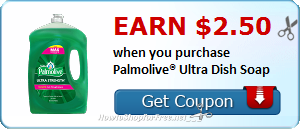 Earn $2.50 with Ibotta wyb Palmolive® Ultra Dish Soap!