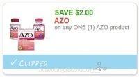 **NEW Printable Coupon** $2.00/1 AZO product