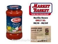 Barilla Sauce ONLY 50¢ at Market Basket 06/18 ~ 06/24!