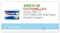 **NEW Printable Coupon** $1.00/1 COTTONELLE Toilet Paper