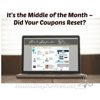 It's the Middle of the Month ~ Did your Coupons Reset?