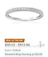 **Amazon Deal of the Day** Save Big on Diamond Rings!