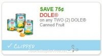 **NEW Printable Coupon** .75/2 Dole Canned Fruit