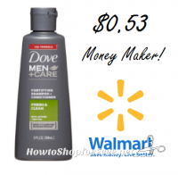 MONEYMAKER Dove Men+Care at Walmart!