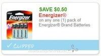 **NEW Printable Coupon** .50/1 Energizer Brand Batteries