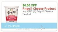 **NEW Printable Coupon** .50/1 Frigo Cheese Product