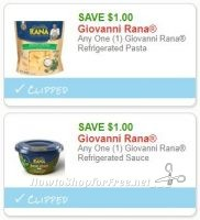 **NEW Printable Coupons** 2 Giovanni Rana Coupons Pre-Clipped for You!