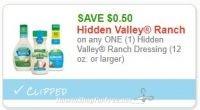 RUMOR ALERT! Print your Hidden Valley Dressing coupons NOW!!!