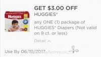 HOT new printable $3/1 pack of Huggies Diapers