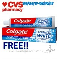 Wow FREE Colgate Toothpaste At CVS!!(06/04/17-06/10/17)