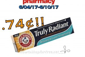 Hot Deal Arm & Hammer Truly Raident Toothpaste .74¢ at CVS(06/04/17-06/10/17)