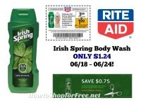 Irish Spring Body Wash ONLY $1.24 at Rite Aid 06/18 ~ 06/24!