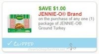 **NEW Printable Coupon** $1.00/1 JENNIE-O Ground Turkey