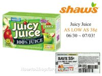 Juice Juice As Low As 38¢ at Shaw's 06/30 ~ 07/03