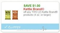**NEW Printable Coupon** $1.00/2 Kettle Brand products (4 oz. or larger)