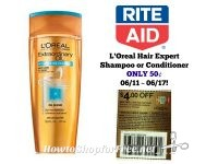 L'Oreal Hair Expert Shampoo or Conditioner ONLY 50¢ at Rite Aid 06/11 ~ 06/17!