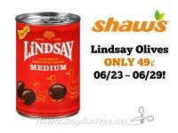 Lindsay Olives ONLY 49¢ at Shaw's 06/23 ~ 06/29