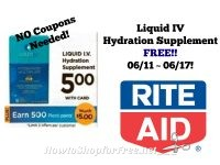 Liquid IV Hydration Supplement FREE at Rite Aid 06/11 ~ 06/17 *NO Coupons Needed*