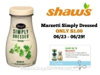 Marzetti Simply Dressed ONLY $1.00 at Shaw's 06/23 ~ 06/29!