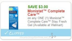 graphic regarding Monistat Printable Coupons called Fresh Printable Coupon** $3.00/1 Monistat Extensive Treatment How