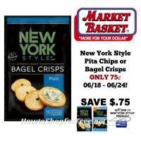 New York Style Pita Chips or Bagel Crisps ONLY 75¢ at Market Basket 06/18 ~ 06/24!