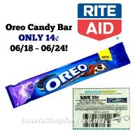 Oreo Candy Bar ONLY 14¢ at Rite Aid 06/18 ~ 06/24!