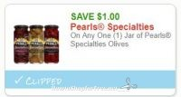 **NEW Printable Coupon** $1.00/1 Jar of Pearls Specialties Olives