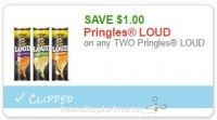 **NEW Printable Coupon** on any TWO Pringles LOUD