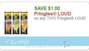 Save $1.00 on any TWO Pringles LOUD