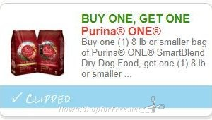 Don't Forget to Print HOT BOGO Purina Coupon!