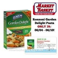 Ronzoni Garden Delight Pasta ONLY 39¢ at Market Basket 06/04 ~ 06/10!