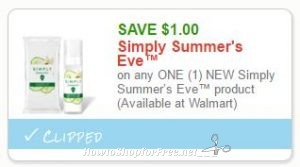 graphic regarding Summers Eve Printable Coupons identified as Fresh new Printable Coupon** $1.00/1 Clean Quickly Summers Eve
