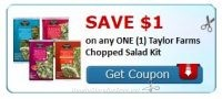 **NEW Printable Coupon** 4 Taylor Farms Coupons Pre-Clipped for You!