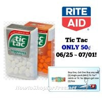 Tic Tac ONLY 50¢ at Rite Aid 06/25 ~ 07/01!