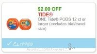 **NEW Printable Coupon** $2.00/1 Tide Pods