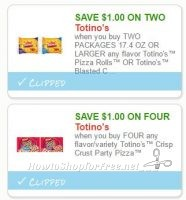 **NEW Printable Coupons** 2 Totino's Coupons Pre-Clipped for You!