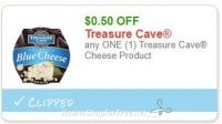 **NEW Printable Coupon** .50/1 Treasure Cave Cheese Product