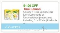 True Lemon Lemonade Sticks 99 cents at Big Y 6/22-6/28!
