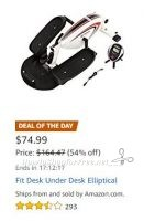 **Amazon Deal of the Day** Save BIG on Under Desk Elliptical