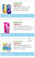 **NEW Printable Coupons** 3 Venus Coupons Pre-Clipped for You!
