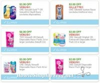 **HOT**NEW High Value Printable Coupons** 6 Gillette & Venus Coupons Pre-Clipped for You!