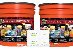 10pc. Armor All Car Care Gift Bucket 75% OFF!!