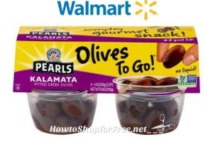 4pk. Pearls Olives To Go! for $2.47 at Walmart (Just .62/cup)