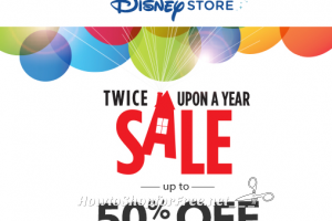 Twice Upon a Year Sale at the Disney Store, up to 50% OFF!