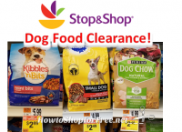 Dog Food Clearance at Stop & Shop!