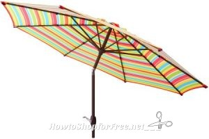 9′ Market Umbrella UNDER $25! ~Comes in 4 Colors!